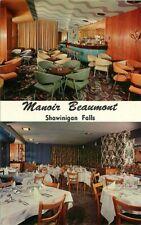 Postcard 2 Views of Manor Beaumont, Shawinigan Falls, Quebec, Canada ca 1950s