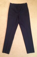 Women's $1200 Rare Trendy Bogner Pleated Tailored Casual Pants, Blue, Size 6