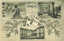 Prima guerra mondiale, Croce Rossa - Milano, vedutine ospedale francese