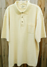 *Grand Slam Golf* Short Sleeve Yellow Polo Golf Pocket Shirt Xxl