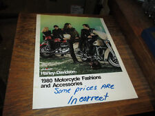 Harley NOS 1980 Motorcycles  Fashions & Accessories Brochure 99457-80V