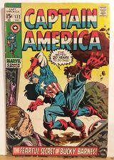 Captain America No.132 Bucky Barnes Appearance Marvel Comics 1970