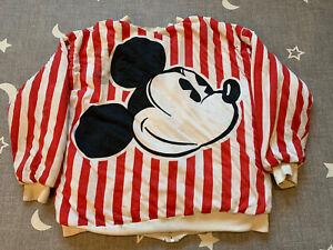 Vintage 1980s Disney Mickey Mouse Reversible Puff Jacket SZ M