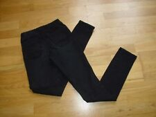 Womens black denim jeggings size 8UK vgc v