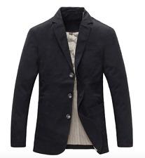 Herren Blazer 100% Baumwolle Casual Sakko Anzugjacke Freizeit Business Slim Fit