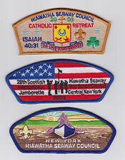USA BOY SCOUTS OF AMERICA - BSA HIAWATHA SEAWAY COUNCIL SHOULDER PATCH SCOUT CSP
