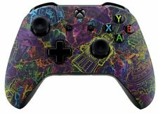 """""""Neon Robot"""" Xbox One S Rapid Fire Modded Controller for ALL SHOOTER GAMES MW"""