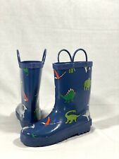 Foxfire Fox-600-65-13 Childrens Blue Dinosaurs Rain Boot - Size 13