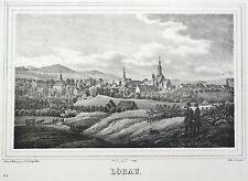 Löbau-vista general-Saxonia-litografía 1841
