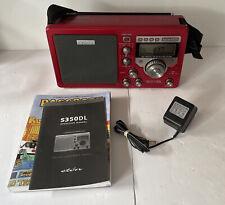 Eton S350DL AM/FM Shortwave Deluxe Radio Receiver - Red