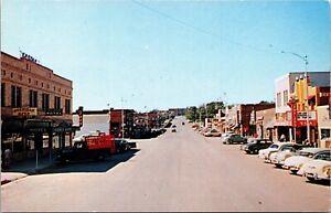 Postcard U.S. 14-16 Business Street Scene in Gillette, Wyoming~136494