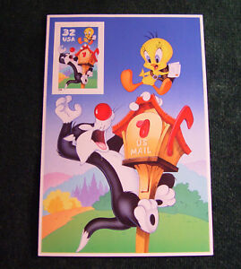 Scotts 3204 US 1997 Sylvester & Tweety 32 Cent Stamp Card