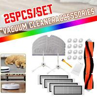 25PCS For Roborock Robot Vacuum Cleaner HEPA Filter Main Side Brush Mop Tool-