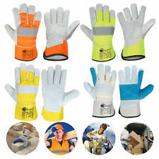 Working Gloves Cow Split Leather Canadian Rigger Multi-Purpose ASK-CRG-1026