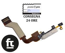  IPHONE 4S Flat Dock Connettore Carica + microfono Bianco OEM  