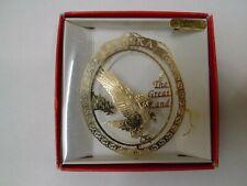Nation's Treasures Alaska 24K Gold Finish Brass Eagle The Great Land Ornament