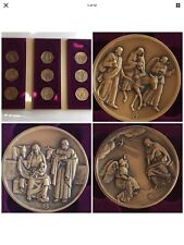 "Vita Christi Franklin Mint Medal Set ""Life Of Christ"" 1971 Solid Bronze Coin Set"