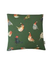 "Christmas Xmas Robins Birds Green cushion cover/sham Pillow case 16"""