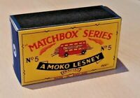LESNEY MATCHBOX MOKO NO.5B LONDON BUS 57mm CUSTOMISED DISPLAY/STORAGE BOX ONLY