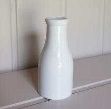 Danish Nordic Scandi white ceramic milk bottle vase for flowers, milk or cream
