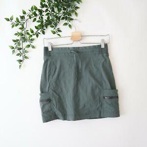 Athleta Women's Zip Cargo Nylon Athletic Skort Size 4 Green
