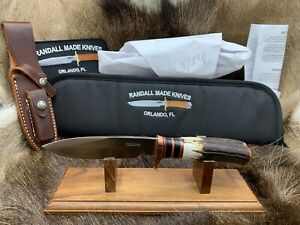 Randall Model Copper Companion Knife With Stag Handles & Leather Sheath Mint ++