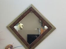 "Home Interiiors Square Mirror 13"" X 13"" Hang Horizontal Or Diamond Shape"