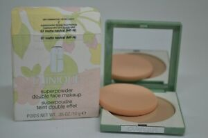 Clinique Superpowder Double Face Makeup BNIB 0.35oz./10g ~07 Matte Neutral ~