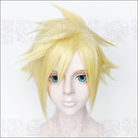 For Cosplay Final Fantasy Tidus Gold Anti- Alice Short Hair Party Wig+Wig Cap