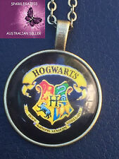 BRAND NEW  2017 HARRY POTTER DEATHLY HALLOWS HOGWART BRONZE PENDANT NECKLACE 100