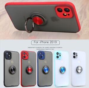 iPhone 12 11 Pro Xs Max Mini XR 8 7 6 SE Plus Case Magnetic TPU Ring Matte Stand