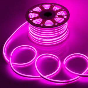 WYZworks Pink Flexible Waterproof Soft Double Sided LED Neon Rope Light Strip