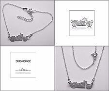 Halskette & Armband Set-Motorrad 45 und 17+3 cm Echt 925er.Sterling Silber BL416