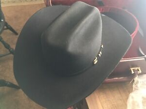 Stetson Men's Diamante 1000X BlackBeaver/Chinchilla Felt Cowboy Hat Retails $5k+