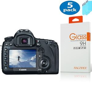 [5x] For Canon 1DX / 5D Mark III / EOS 5Ds HD Tempered Glass Screen Protector