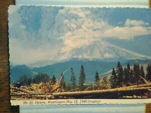 VINTAGE  POST CARD MAY 18,1980 ERUPTION MT.ST.HELENS WA.
