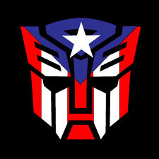 PUERTO RICO CAR DECAL STICKER  TRANSFORMER with  FLAG #215