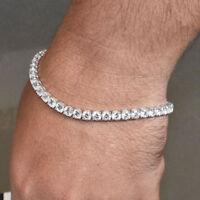 "15.00 Ct Diamond Tennis Bracelet 7.5"" Single Line Hallmarked White Gold Finish /"