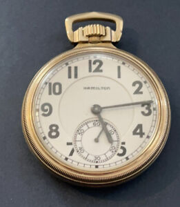 RARE 1939 Hamilton 950E Elinvar 16sz 23j RR Model GF Case POCKET WATCH 10k GF