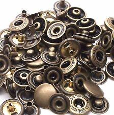 20 Pack Antique Brass 10 mm Spring Button Glove Snaps 1249-15