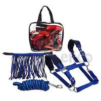 Elico Dalston Headcollar, Rope and Fly Fringe Set pony cob full adjustable