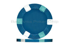 25 x New Real Clay Poker 10g Chips Blue + 1 Paulson Top Hat & Cane $100