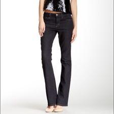 NWT Joe's JJ Jeans Womens Mid Rise Mini Boot Cut Blue Dark wash Size 26