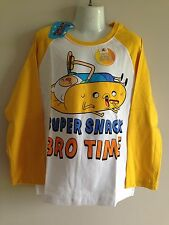 BNWT Boys Sz 8 Official Adventure Time Colour Change Long Sleeve Tee Shirt Top