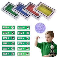 48 X Microscope Plastic Slides Mini Camera Specimen Prepared for Student Kids