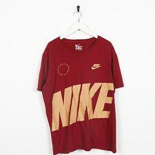 Vintage NIKE Big Logo T Shirt Tee Burgundy Red | XL