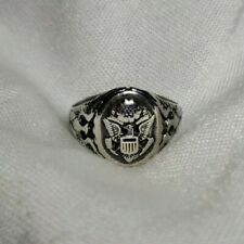 VINTAGE 925 STERLING SILVER US ARMY RING. SIZE 10.5