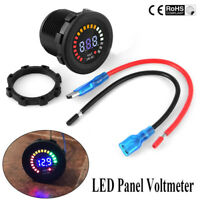 24V Car Motorcycle Blue LED RGB Digital Display Voltmeter Waterproof Volt Meter
