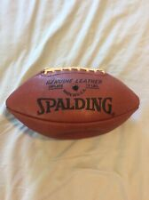 Rare Vintage Spalding Genuine Leather Varsity Laced Usa Football