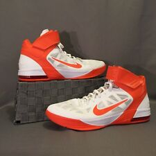 Nike Hyperfuse Max Air 2010 Shoes size 17 Orange and White Basketball High Top